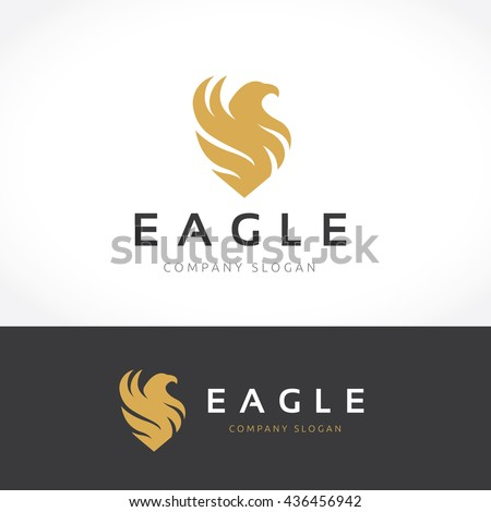 Eagle Logo template. - stock vector