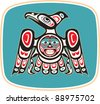 Eagle - Native American Style Vector - stock vector