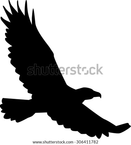 Eagle Silhouette Logo Flying Hawk Silhouette Vector