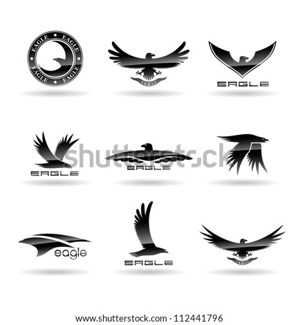 Eagle Silhouettes Vol 4. - stock vector
