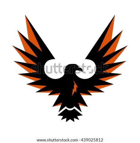Eagle Symbol Isolated On White Illustration Stock Vector Royalty