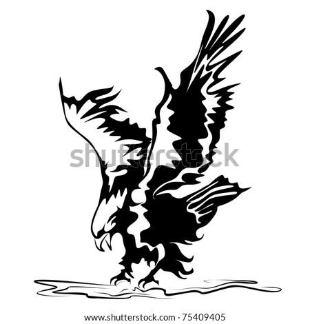 eagle vector - stock vector