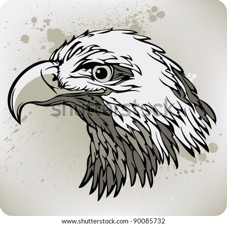 Eagle. Vector illustration. - stock vector