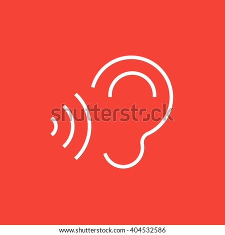 Ear sound waves line icon stock vector 369169715 shutterstock ear and sound waves line icon sciox Gallery