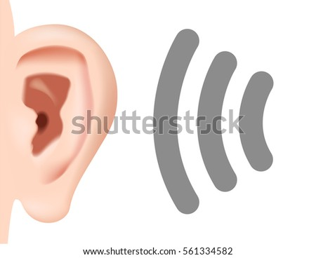Hearing waves stock images royalty free images vectors ear listening hearing audio sound waves vector sciox Gallery
