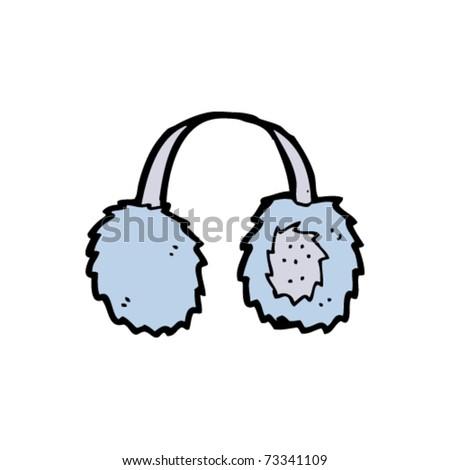 ear muffs cartoon - stock vector