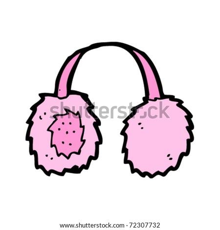earmuffs cartoon - stock vector