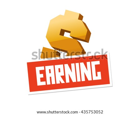 Earning graphic. Flat vector illustration. - stock vector