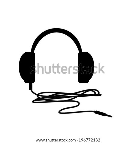 earphone - stock vector