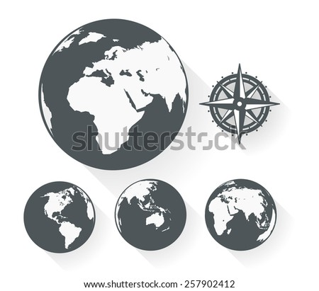 Earth abstract illustration - stock vector