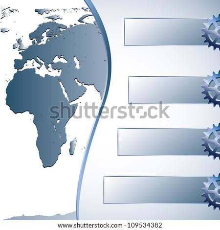 Earth blue abstract business background - stock vector