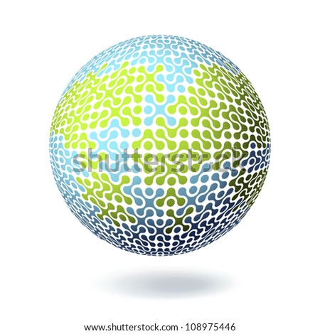 Earth Connections concept. Poster design template. Vector illustration, EPS10. - stock vector
