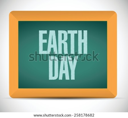 earth day board day illustration design over white background - stock vector