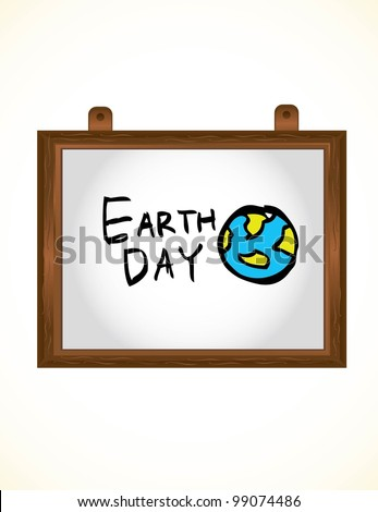 earth day cartoon - stock vector