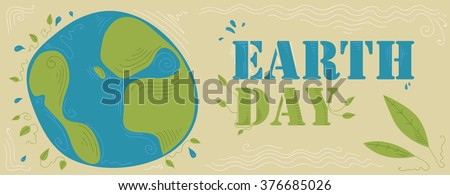 Earth Day Poster (Vector Art) - stock vector