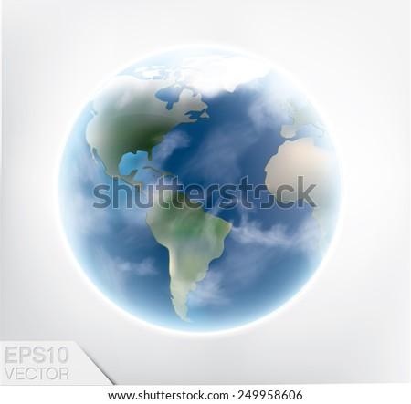 Earth. Detailed vector art. - stock vector