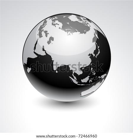 Earth - Eurasia. - stock vector