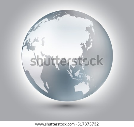 Earth globe design.Vector globe icon.