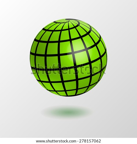 earth globe icon - stock vector