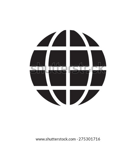 Earth globe symbol of grid icon vector illustration eps10 on white background - stock vector