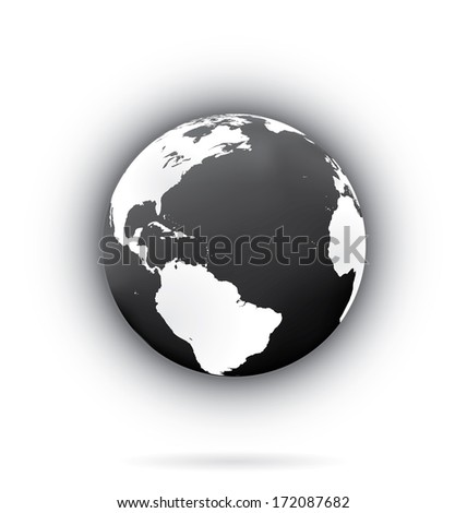 Earth globe vector illustration.