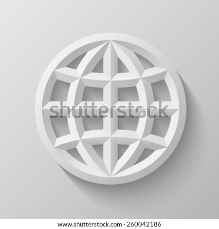 Earth globe with bevel - stock vector