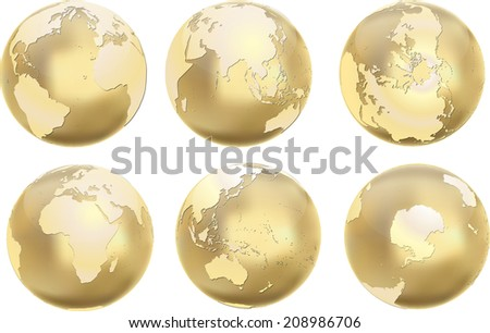 Earth globes. Vector illustration.