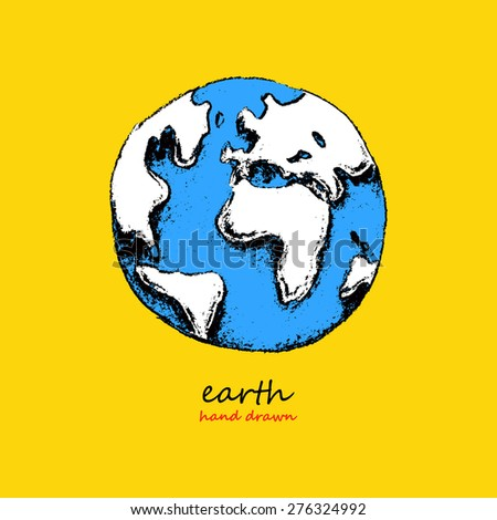 Earth. Hand drawn vector illustration - stock vector