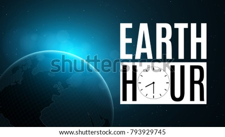 Earth hour futuristic planet earth space stock vector 793929745 earth hour futuristic planet earth in space 60 minutes without electricity sunrise with gumiabroncs