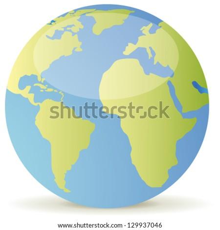 Earth icon - stock vector