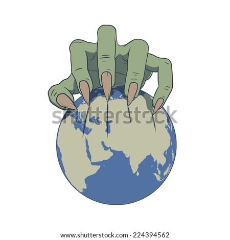 earth in danger - stock vector