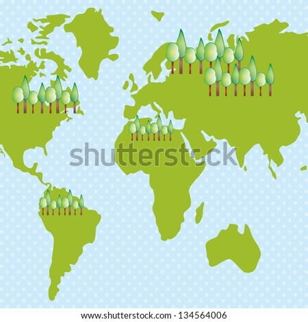 Earth, planet and nature icons colorful concepts. Vector illustration
