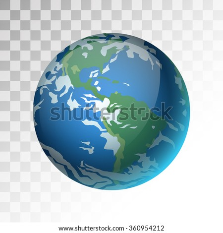 Earth planet 3d vector illustration. Globe Earth texture map. Globe vector Earth view from space. Globe Earth illustration. Geography world vector Earth. Globe silhouette, world map, 3d earth - stock vector