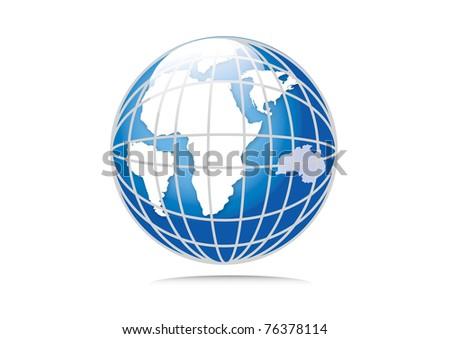 Earth planet vector illustration - stock vector
