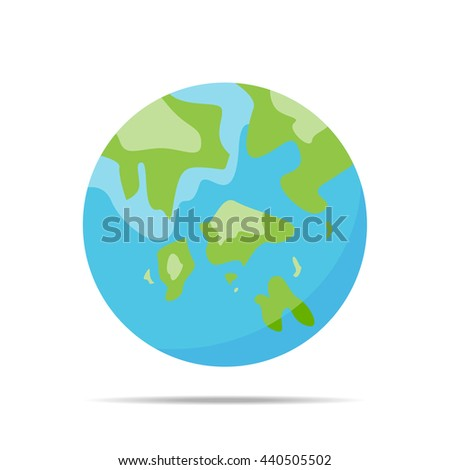 Earth sphere design. vector graphic - stock vector