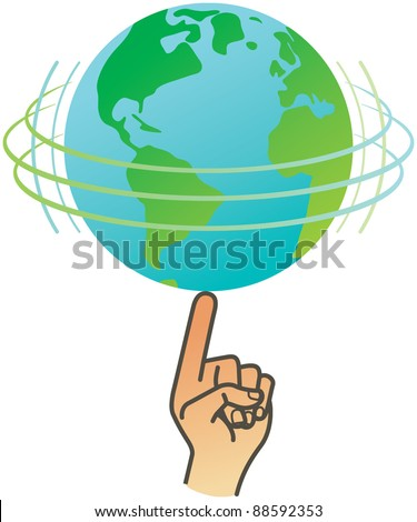 Earth spin - stock vector