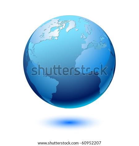 Earth. Vector. - stock vector