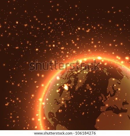 Earth - vector background - stock vector
