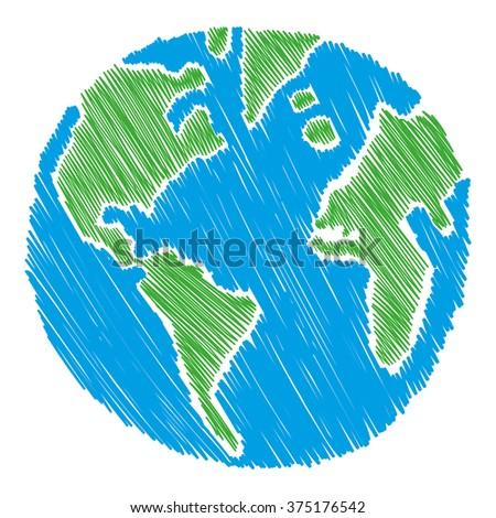 Earth vector illustration - stock vector