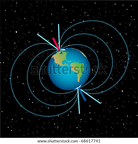 earth with magnetic field