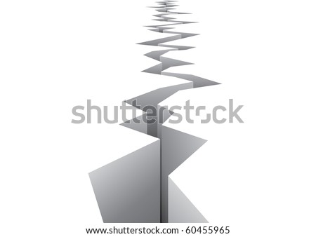 Earthquake vector - stock vector