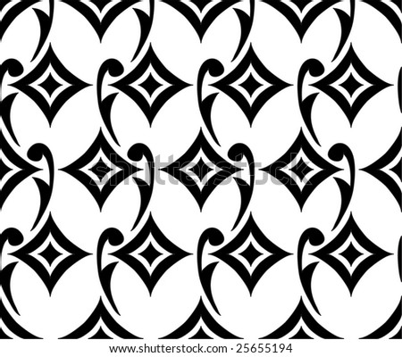 East  pattern - stock vector