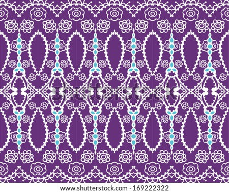 east seamless pattern, lace vector - stock vector