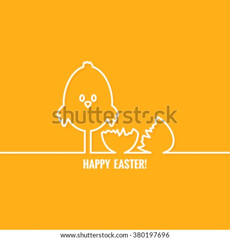 easter abstract line vector background - stock vector
