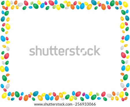 Easter Background . Easter Eggs Border Frame . Vector Frame with Space for your Text . - stock vector