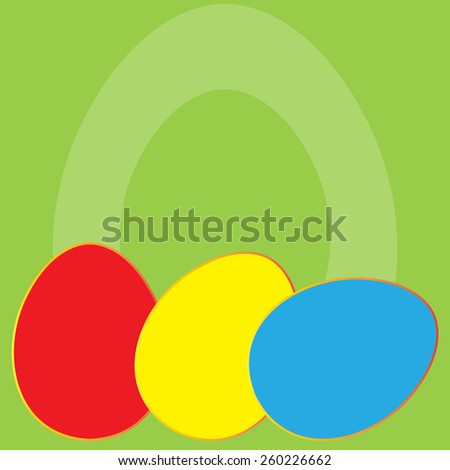 Easter background with eggs. Vector illustration. - stock vector