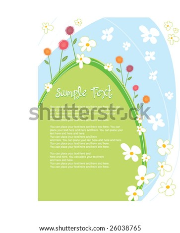 Easter Background with Text Panel
