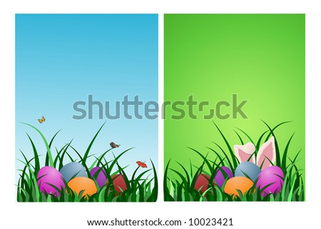 Easter backgrounds - vector illustration - stock vector