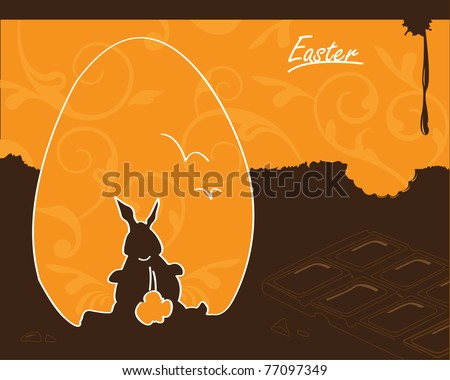 Easter Bunny Chocolate Design