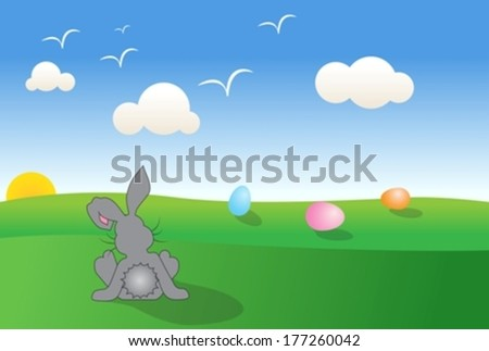 Easter bunny eps10 - stock vector